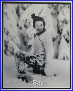 ANDRE DE DIENES MARILYN MONROE, Snow, Vintage Gelatin Silver Print 1945