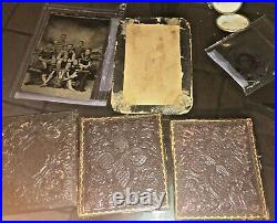 ANTIQUE Tintype PHOTOGRAPHS VINTAGE LOT of 6 Family In Bathing Suits