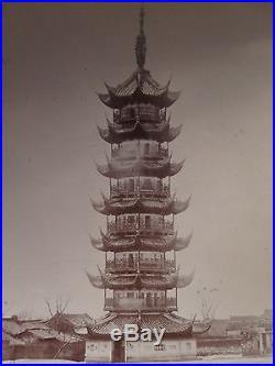 ANTIQUE VINTAGE CHINA CHINESE TURN 19th CENTURY PAGODA ARCHITECTURE CITY PHOTO