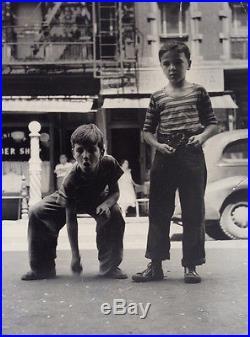 Arthur Leipzig Photo League Vintage 1962 Nyc Street Boys Marbles Must See