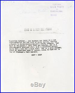 AVA GARDNER (1945) Vntg orig 8x10 key set print still portrait by Clarence Bull