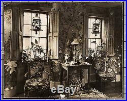 Andre Kertesz VINTAGE STAMPED Lavish Home Interior 10.75 x 13.5 Dbl Wt Photo