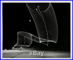 Andreas Feininger VINTAGE 1951 STAMPED Helicopter Takes Off at Night LIFE Photo