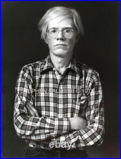Andy Warhol Photo 8X10 B&W DKRM Gelatin Silver Print Signed Orig 1977