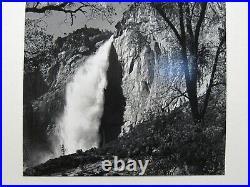 Ansel Adams Original Photo Yosemite Falls, Spring 1983 Gelatin Silver Print