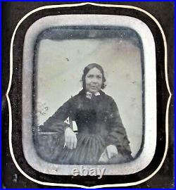 Antique Ambrotype Daguerreotype Early Photograph Of A Victorian Lady