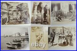 Antique Egypt Albumen Photo Album Pyramids Spinx Mummy Pharaoh Parthenon Galata