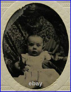 Antique Hidden Mother African American Mammy CIVIL War Era Sc Tintype Photo
