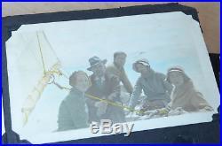 Antique Photo Album 272 b&w pic 1940s California trians boats autopsy death VTG