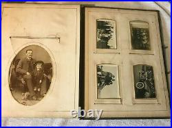 Antique Victorian Family Photograph Cdv/cabinet Card Album with 80, cards/pics