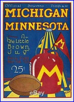 Antique Vintage 1923 University Michigan Minnesota Football Ferry Field MI Photo