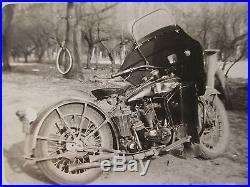Antique Vintage 1929 Harley Davidson Jd Model Motorcycle Artistic Parts Photo