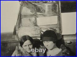 Antique Vintage American Flapper Girls Lesbian Int Tlc Artistic Road Car Photo