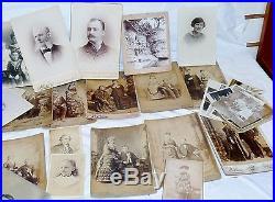 Antique Vintage Black & White Photograph Studio Work Lot of 87 Pieces 7x5 & Less