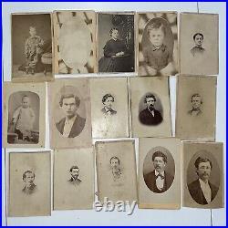 Antique Vintage Estate Lot Cabinet CDV Tintype Photographs Ephemera Oregon Famil