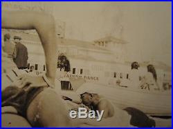 Antique Vintage Integrated Beach Boardwalk African American Power Couple Photo