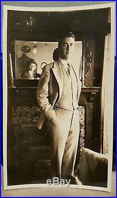 Antique Vintage Photographer Selfie Man In The Mirror Artistic Vernacular Photo