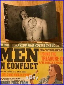 Antique Vintage Tattoo Rare. Bernard Kobel Collectors Photo, Circus, German