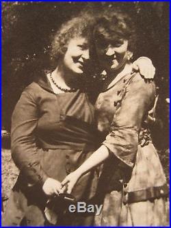 Antique Vintage Trio Female Girls Couples Lesbian Int Lgbt Girlfriend Fine Photo