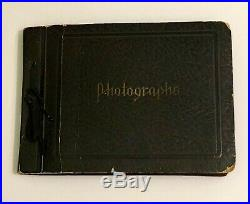 Antique Vtg Photo Album Young Men Weightlifting, Boxing, WW2 Canada Interesting