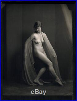 Arnold Genthe Camera Negative Vintage 1920s Pictorialist Nude Dancer Photograph