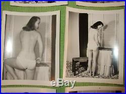 Art Pix Portfolio Vintage Nude Photos Set Taking off clothes Naked Woman B/W 4x5