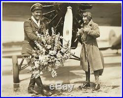 BEBE DANIELS & ROSCOE TURNER Original Vintage Photo 1926 NEW AIRLINE