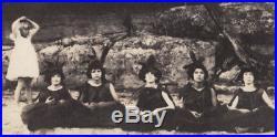 BLIND GIRL ADOPTED DAUGHTER of ELKS DANCES on AUSTIN TX BEACH1922 VINTAGE PHOTO