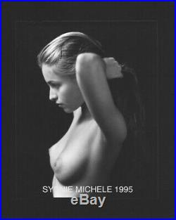 B&w Nude Female Photo 4x5 Contact Print Signed Orig