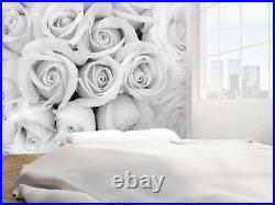 Beautiful Soft Rose black and white photo Wallpaper wall mural (74257734) Floral