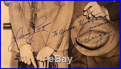 Bela Dracula Lugosi & wife Lillian Arch Lugosi Signed Vintage 1940 Photograph
