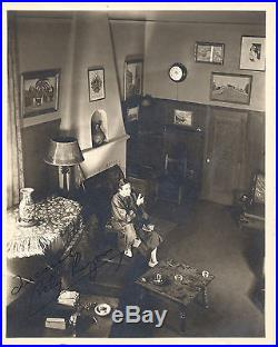 Bela Lugosi At Home/1935/signed By Wife/8x10 Original Vintage Photo Cc9687