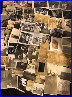 Big Lot 500 Old Photos BW Vintage Antique Photographs Snapshots Black White Dmg
