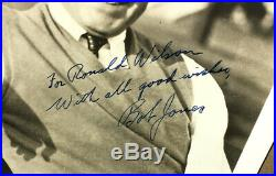 Bobby Jones Vintage Autographed B&w Photo-signed In Fountain Pen-robert T. Jr