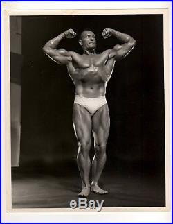 Bodybuilder Vintage ORIGINAL CLANCY ROSS Bodybuilding Muscle B+W CARUSO PHOTO