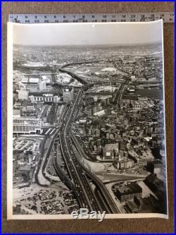 Boston Area Vintage Black & White Large Aerial Photos 1960