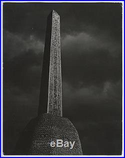 Brassai (Gyula Halash) VTG 1940 STAMPED Obelisk, Place de la Concorde RARE Photo