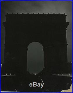 Brassai VINTAGE 1940 STAMPED Arc de Triomphe, Paris at Night VERY RARE Photo