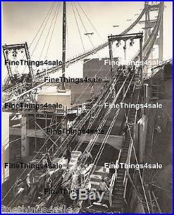 CABLE WORK PHOTO OF GOLDEN GATE BRIDGE BEING BUILT VINTAGE MEMORABILIA c 1935