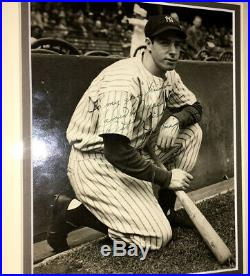 C. 1938 Joe Dimaggio Vintage Autographed B&w Type 1 Original Wire Photo-yankees