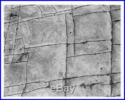 Cole Weston Photo, Vintage Gelatin Silver, Rock Erosion, Pt. Lobos 1977