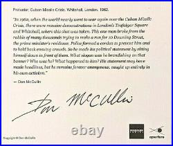 DON MCCULLIN 6 x 6 SIGNED MAGNUM ARCHIVAL PRINT