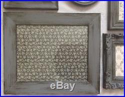 Dark Grey Aged Shabby Chic Photo Frames Black White Vintage Style Pictures