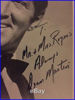 Dean Martin Autograph Vintage, Signed 8x10 B/W Photograph