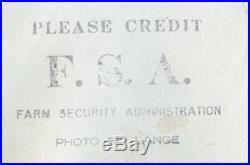 Dorothea Lange VINTAGE STAMPED Sugar Beet Lifter, Oregon/FSA VERY RARE Photo