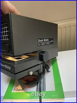 Durst M305 Black and White Photo Enlarger With lens and manual