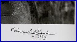 EDWARD ED CLARK Vintage 1945 PARIS ARTIST at Montmartre HUGE 20x24 SIGNED PHOTO