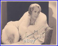 Edna May Oliver Authentic Vintage 1931 Signed Autograph Photo by E. Bachrach