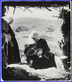 Edouard Boubat VINTAGE STAMPED Mother Breastfeeding, Bethlehem RARE Press Photo