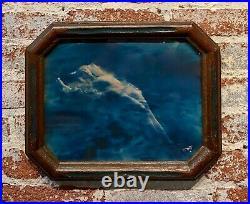 Edward Sheriff Curtis 1910s Floating Aphrodite-Blue toned Silver Gelatin Photo